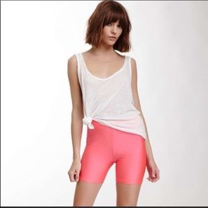 American Apparel Shiny Tricot Pink Biker Shorts